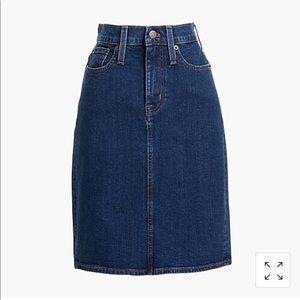 J Crew Denim pencil skirt, NWT
